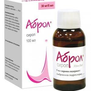 Abrol (ambroxol) syrup 30 mg/5 ml. 100 ml.