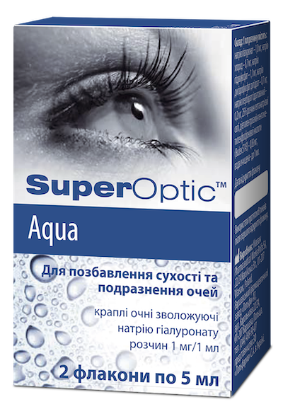 SuperOptik (sodium hyaluronate) Aqua eye drops 5 ml. vial №2