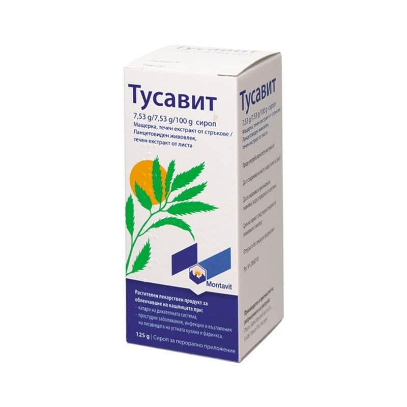 Tusavit (thymus vulgaris) syrup 125 g.