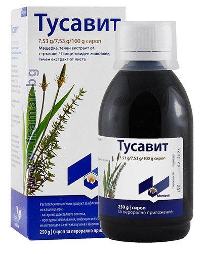 Tusavit (thymus vulgaris) syrup 250 g.