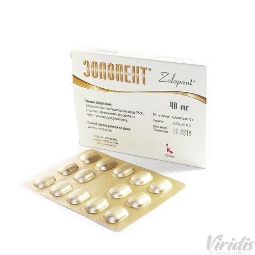 Zolopent (pantoprazole) coated tablets 40 mg. №14